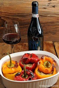 peperoni ripieni, nonna lilly, wine princess, pinot nero, vino rosso, travaglino, poggio della buttinera