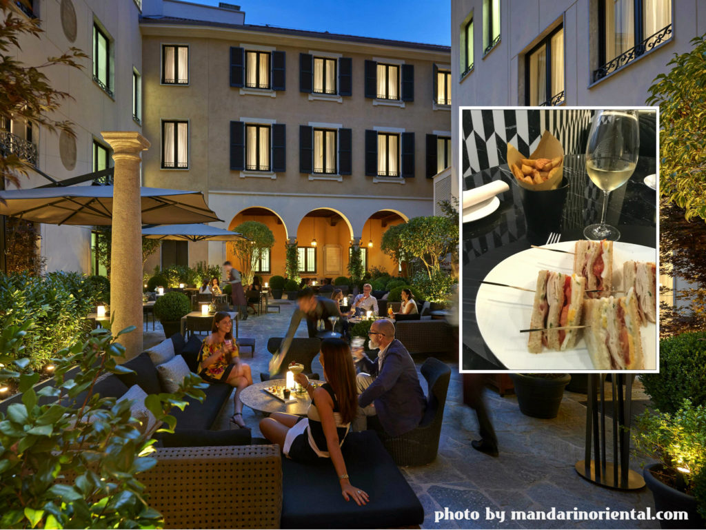 Wine Princess and the Mandarin Hotel of Milan