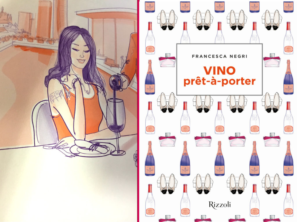 "Francesca Negri and her ""Vino prêt-à-porter"" book"