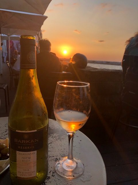 viaggio, israele, Clos de Gat, Chardonnay 2017, Gamla Cabernet Sauvignon, Barkan Chardonnay 2018, Kalia Beach, Bar più basso della terra