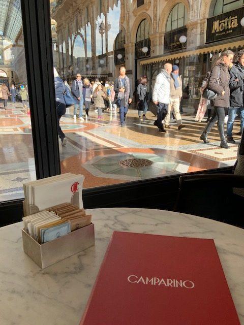 Camparino, Milano, Galleria Vittorio Emanuele, Chef Davide Oldani, Club sandwich, Panc'ot