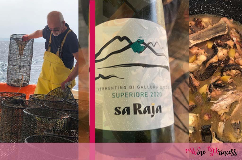 Sardegna, peschereccio, pasta con i granchi, zuppa mista di pesce fresco, vermentino Sa Raja